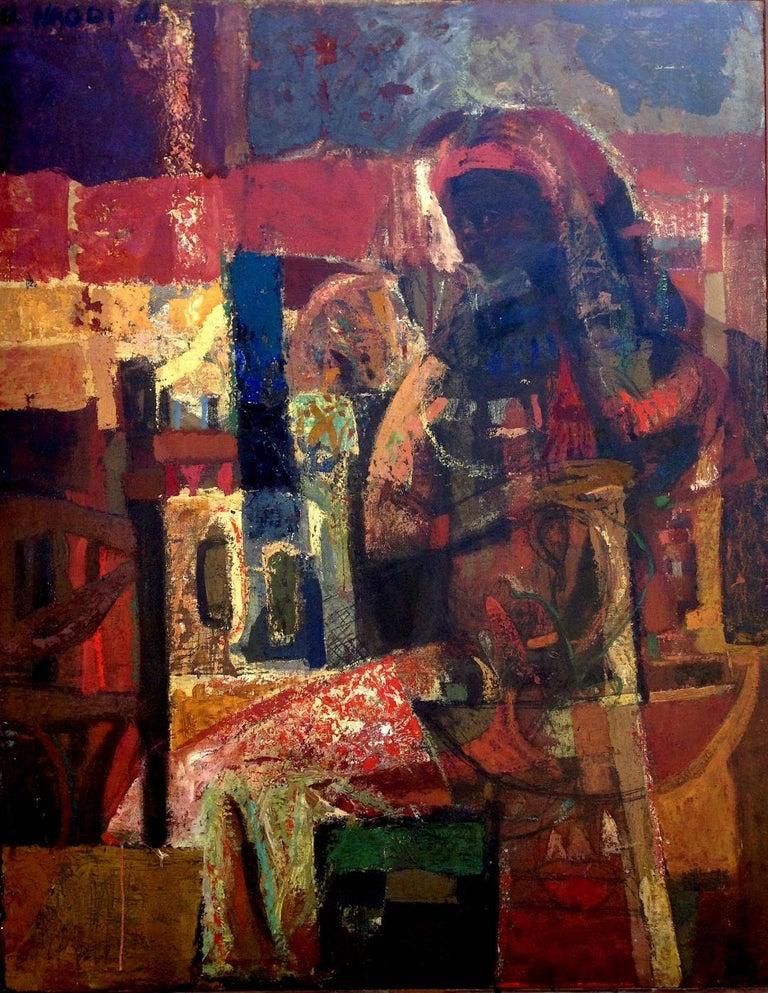 Maternité brune. 1961 . oil on canvas . For Sale 1