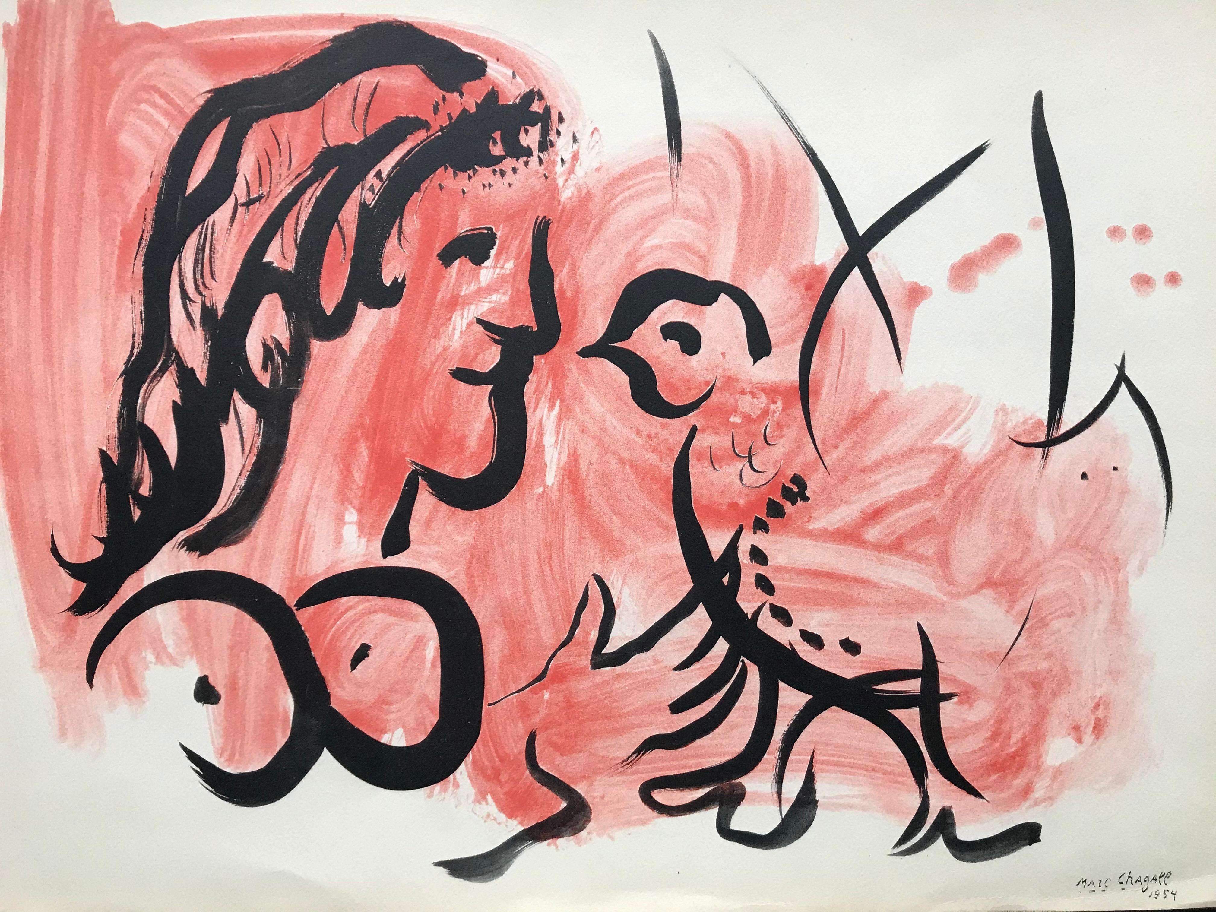 Marc Chagall Femme à l'oiseau