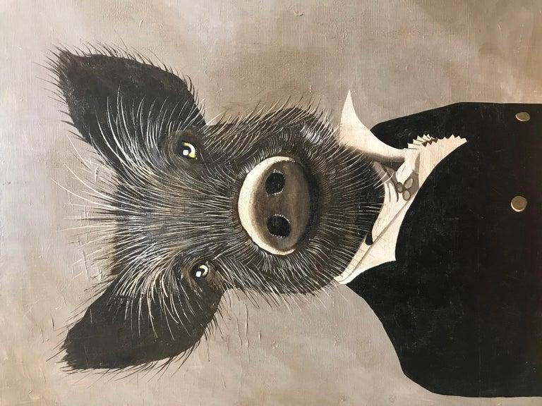 Petraeus Mr sanglier 2018 Acrylique sur toile  Signé au dos 55 x 46 cms 490 euros
