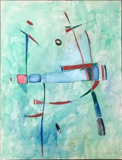 "Khatchatrian ZAVEN  ""Untitled"" 1988 Gouache on paper"