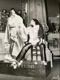Patrick Siccoli Le baiser de l'artiste (fiac 1977)