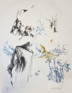 "Henri Le Viennois  lithography ""Circulation"""