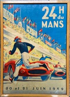 24h du Mans Poster - Michel Beligond