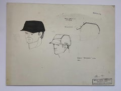 Dessin « helmeted man 3 » pour la NASA - Raymond Loewy et William Snaith