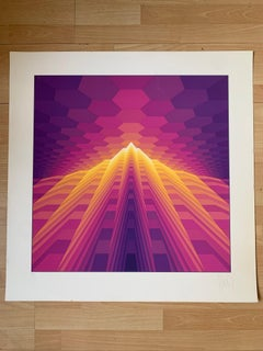 Yvaral (Jean-Pierre Vasarely) Lithographie  - 1978