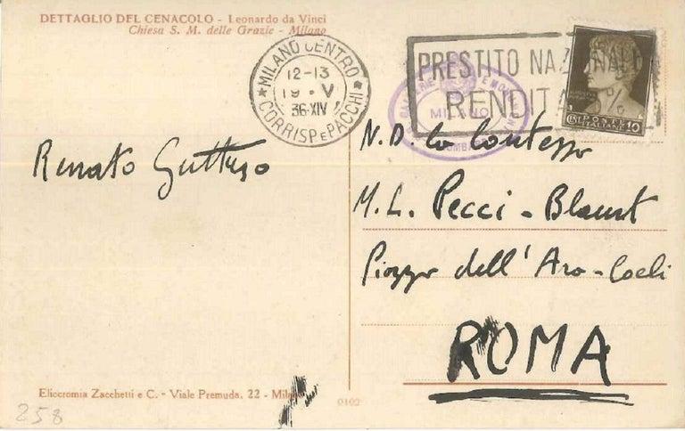 Signed Autograph Postcard - Art by Renato Guttuso