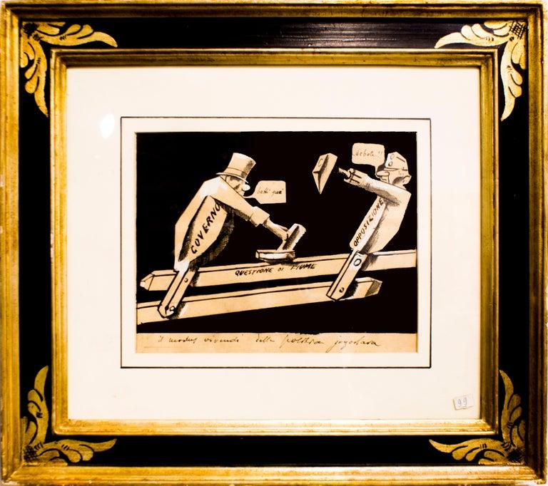 Mario Sironi Figurative Art - La Questione di Fiume