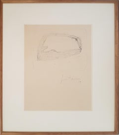 Untitled - Original Drawing by Lucio Fontana - 1959