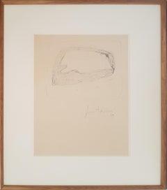 Untitled - Original Drawing by Lucio Fontana - 1959