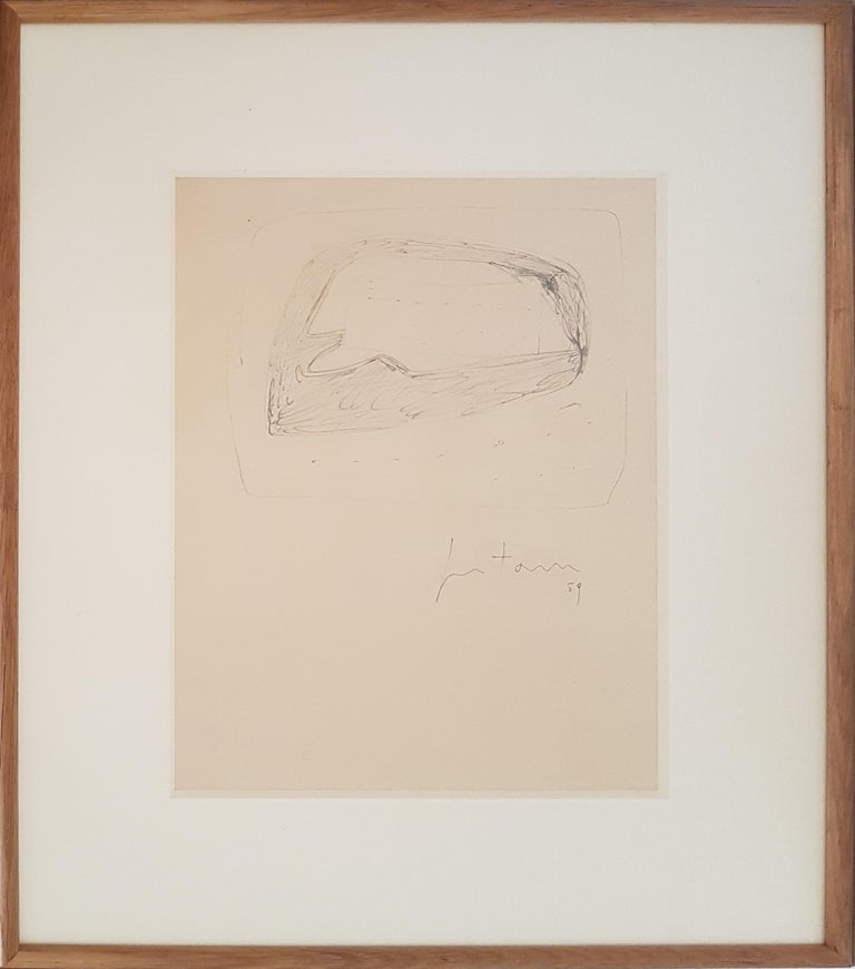 Untitled drawing, 1959, by Lucio Fontana, offered by Wallector
