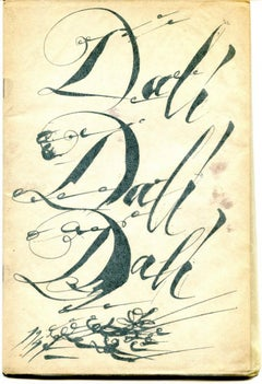 Dalì Dalì Dalì - New paintings by Salvador Dalì - Vintag Catalogue 1947