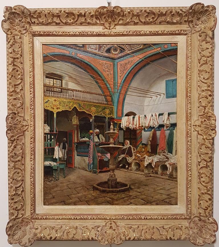Italo Nunes Vais Interior Painting - In the Hammam, Tunisia