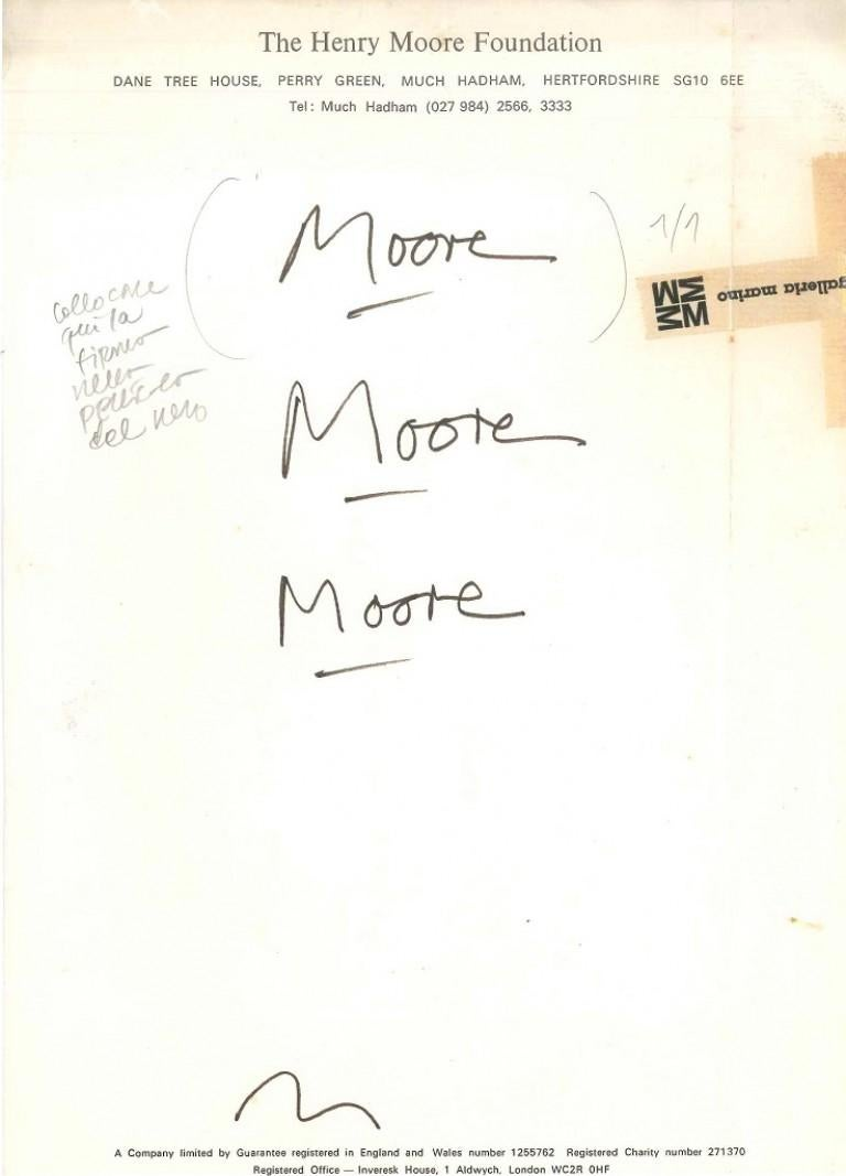 Proofs of signature - Art by Henry Moore