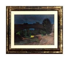 Ponte sul fiume Arrone sulla via Aurelia - Beppe Guzzi - Oil Canvas - Modern