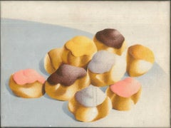 Pastries - Nugella - 1980s - Giuseppe Salvatori - Oil on canvas - Contemporary
