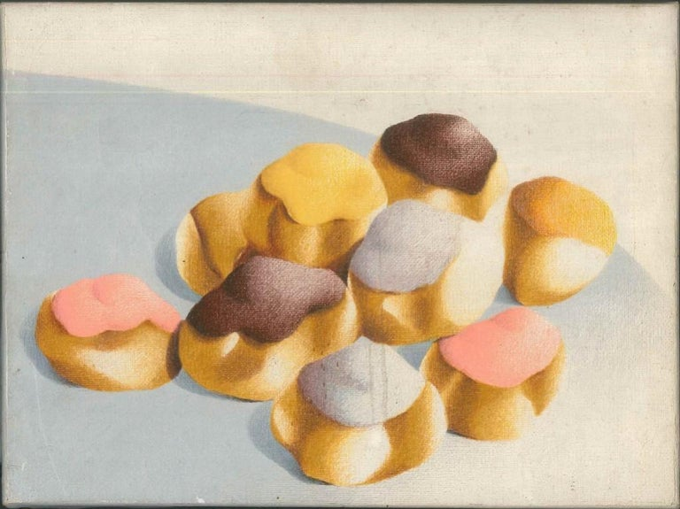 Pastries - Nugella - 1980s - Giuseppe Salvatori - Oil on canvas - Contemporary - Painting by Giuseppe Salvatori