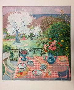 Summer Breakfast in Norway  - 1980s - Ferdinand Finne - Aquatint - Contemporary