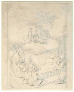 Shovel (Sacred subject) - 19th Century - Nino Costa - Drawing - Modern
