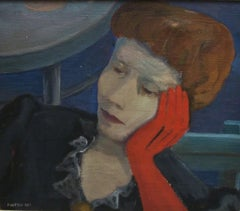 Noblewoman (The Red Glove) - 1940s - Eliano Fantuzzi - Painting - Modern