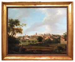 Pair of Landscapes from the Tuscan Countryside - Oil Paintings - 19th century