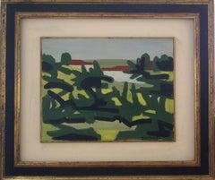 Landscape. Villa Borghese (Rome, Italy) - Oil on Canvas 1960 ca.