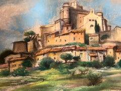 Landscape with a Village - 1950s - Charlotte Jamois - Tempera - Modern