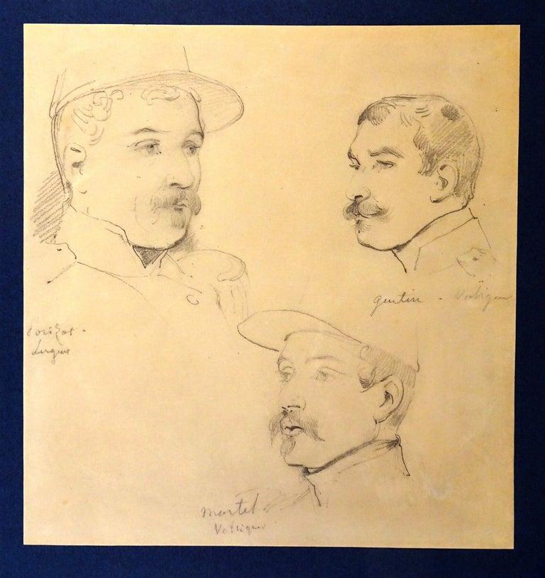 Émile Jean-Horace Vernet  Portrait - Le Soldats - Original Pencil Drawing by Horace Vernet