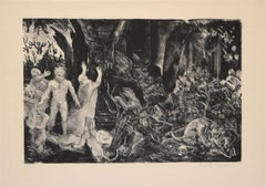The Prophecy - Original Lithograph by Jean-Eugène Bersier -