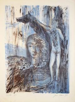 Orphée - Original Lithograph by Jeanne Esmein - 1967