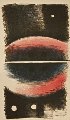 Figures with Balls - 1970s - Paul Mansouroff - Lithograph - Contemporary