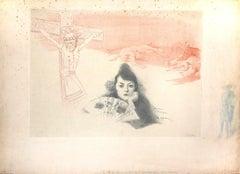 Souvenir d'Espagne - Original Mixed Media by August Roedel - 1903