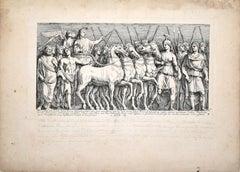 Le Bourguignon - Original Etching by François Perrier - 1630