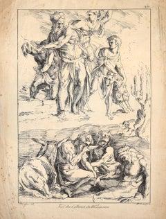 Original Lithograph d'aprés Domenico Beccafumi - Early 1800