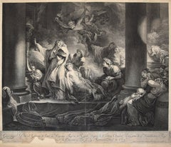 Le Grand prêtre Coresus - Original Etching by J- Danzel - Late 18th Century