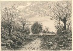 Dirt Track - Original Etching by Henry Raynaud - 1909