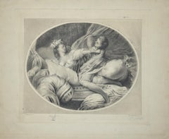 La Chemise Enlevée  - Original Etching After Fragonart by Benjamin Damman
