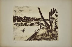 Nature - Original Lithograph by Jean Chapin - Mid 1900