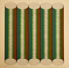 Circles - Original Silkscreen by Miroslav Sutej - 1972