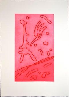 Contrasto (Contrast) - Original Etching by Giulio Turcato - 1970s