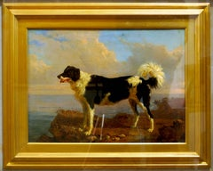 Dog - Oil on Canvas by Filippo Palizzi - Second Half of 19th Century