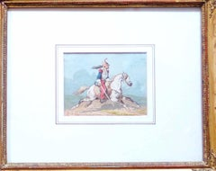 Horse Soldiers - Original Watercolor by Theodore Fort - 1844