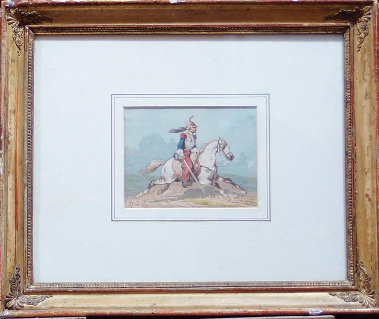 Horse Soldiers - Original Watercolor by Theodore Fort - 1844 For Sale 1