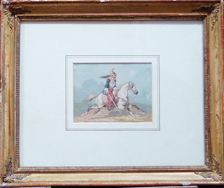 Horse Soldiers - Original Watercolor by Theodore Fort - 1844 For Sale 2