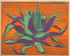 The Plant - Original Woodcut by Axel Salto - Early Mid 1900