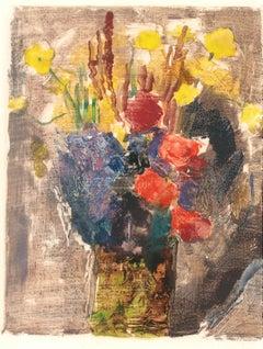 Bouquet - Original Lithograph XX century
