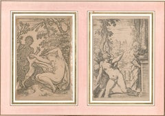 Mythological Scenes After Agostino Carracci - Burin on Paper XVIII Century