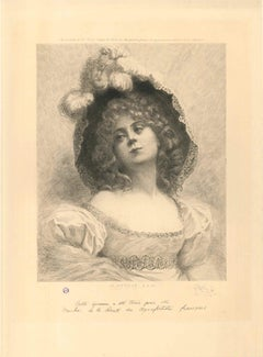 Madame M. - Original Etching and Drypoint by C.A. Waltner - 1894