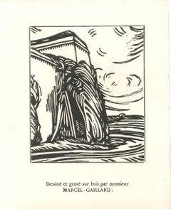 Desert - Original Woodcut by Marcel Gaillard - 1918