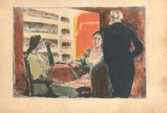 Pendant l'Entracte - Original Lithograph by Alexandre Lunois - 1894