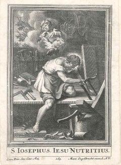 S. Iosephus - Original Etching by P.A. Killian - 1736